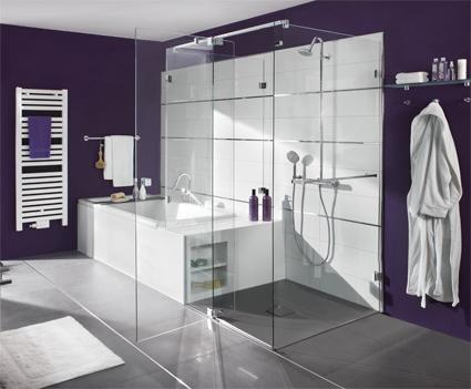 Eine Duschkabine mit Freiheit